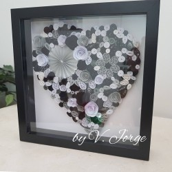 Quilled Paper Heart Frame 07