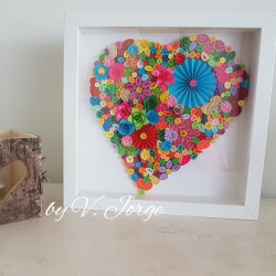 Quilled Paper Heart Frame 08