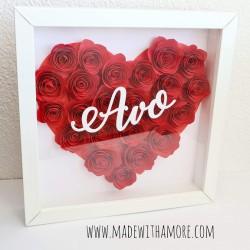 Roses Heart Frame 09
