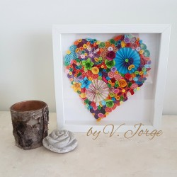 Quilled Paper Heart Frame 09